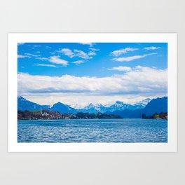Endless Lake Lucerne Art Print