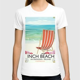 Inch Beach  An Daingean - ireland vintage travel poster T-shirt