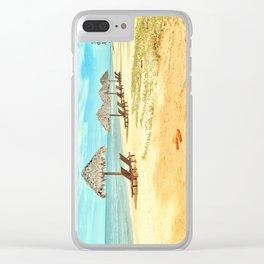 Beach Slippers Clear iPhone Case