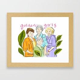 Golden Gals Framed Art Print