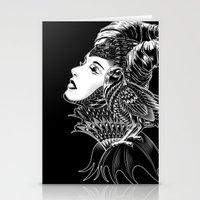 bioworkz Stationery Cards featuring Maleficent Tribute by BIOWORKZ