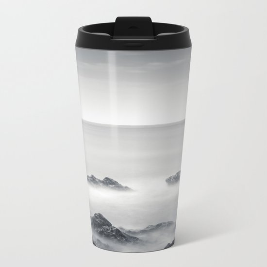 Silver sea Metal Travel Mug