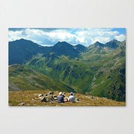 zwölferkopf hiking break view alps serfaus fiss ladis tyrol austria europe Canvas Print