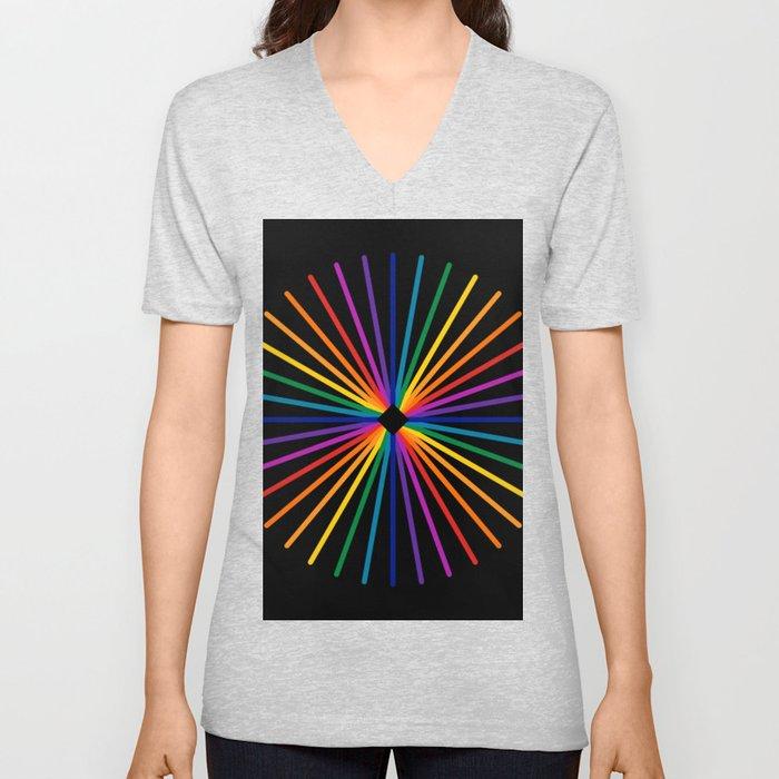 Spectrum Starburst Unisex V-Neck