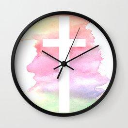 Cross- Landscape / Sunset Wall Clock