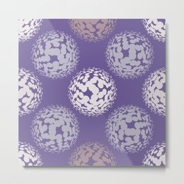 Abstract halftone polka dot ultra violet pattern Metal Print