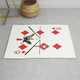 Clipped Wings Deck: The Six of Diamonds Rug