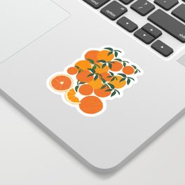 Orange Harvest - White Sticker