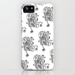 Halo Ink on Paper Drawing by Jordan Eismont Brooklyn, NYC iPhone Case