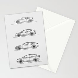 TESLA LINE UP Stationery Cards