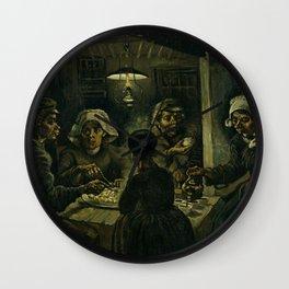 The Potato Eaters Wall Clock