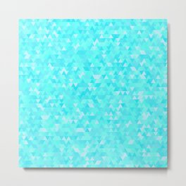 Blue triangle background Metal Print