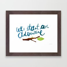 Let's Start An Adventure Framed Art Print