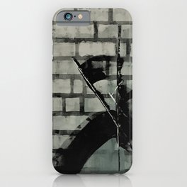 Graffiti Street Art from Original Painting by Jodi Tomer. Abstract Black and White Bricks iPhone Case