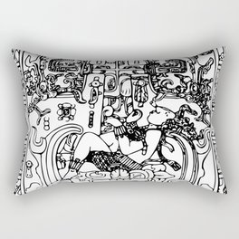 Mayan Astonaut Pakal Palenque World Tree Art Rectangular Pillow