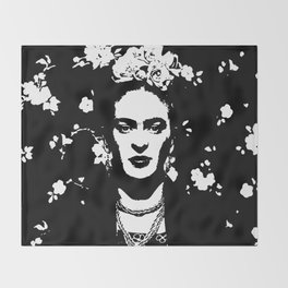 Black 'n white Frida Throw Blanket