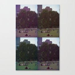 Saturday, In The Park Canvas Print