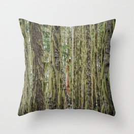 Much Moss Throw Pillow