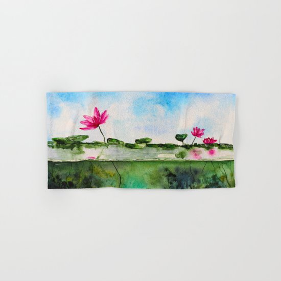 Lotus pond Hand & Bath Towel