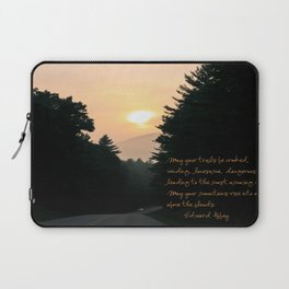 may your trails be crooked... Laptop Sleeve