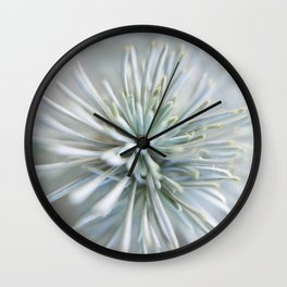 pine needles in blurry green shades Wall Clock