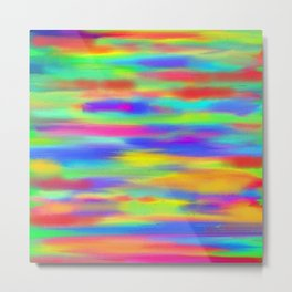 Abstract intense, multicolor Metal Print