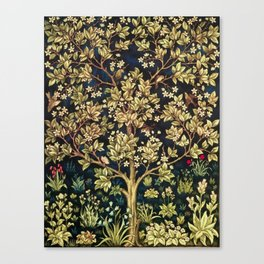 William Morris Tree Of Life Canvas Print