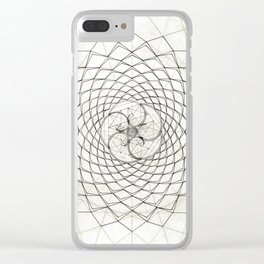 Fractal Star Clear iPhone Case