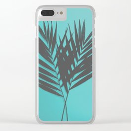 Palm Leaves #1 #Mint #decor #art #society6 Clear iPhone Case