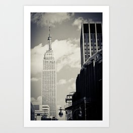 New York: Empire State Building in B&W Art Print