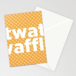 twat waffle Stationery Cards