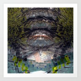 Hurtling in a void despite obstinate machinations, 2. Art Print