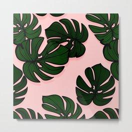 Exotic plant leaves Metal Print