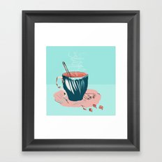 coffee with love Framed Art Print