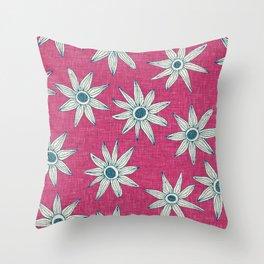 sema pink blue Throw Pillow