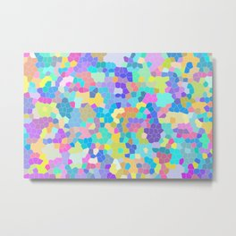 Colors in my head, funny colourful crystals Metal Print