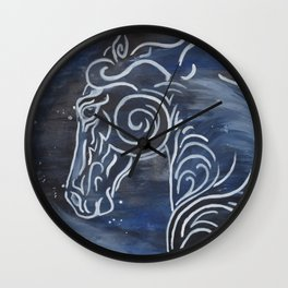 Horse and Stardust Wall Clock