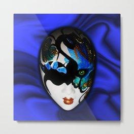 Blue Velvet Venice Mask  Metal Print