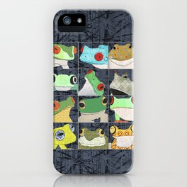 Frogs vertical iPhone Case