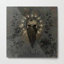 Creepy skull Metal Print