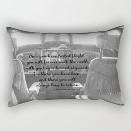 Flight Skyward Da Vinci Rectangular Pillow