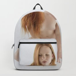 2066 PDJ Nude Redhead Woman Sensual High Key Photograph Backpack