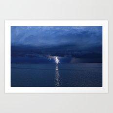 Lightning on the Myakka DPG160601a Art Print