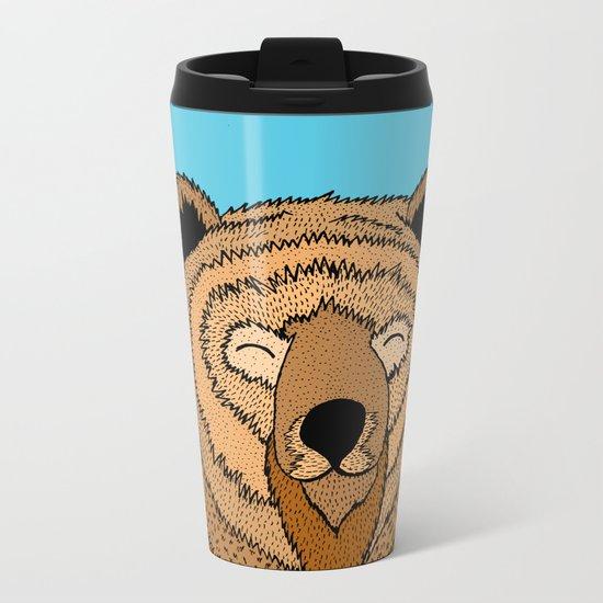 The Happy Bear Metal Travel Mug