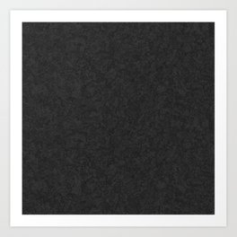 Rough Black Art Paper Texture Art Print