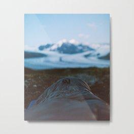 Heli Camping Metal Print