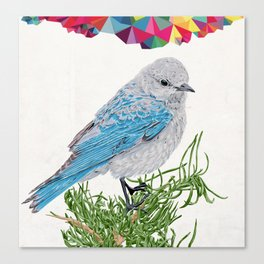 Mt Bluebird Canvas Print