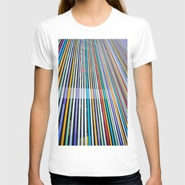 Colored Lines On The Wall T-shirt