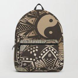"""Yin and Yang """"Sepia"""" Mandala Backpack"""