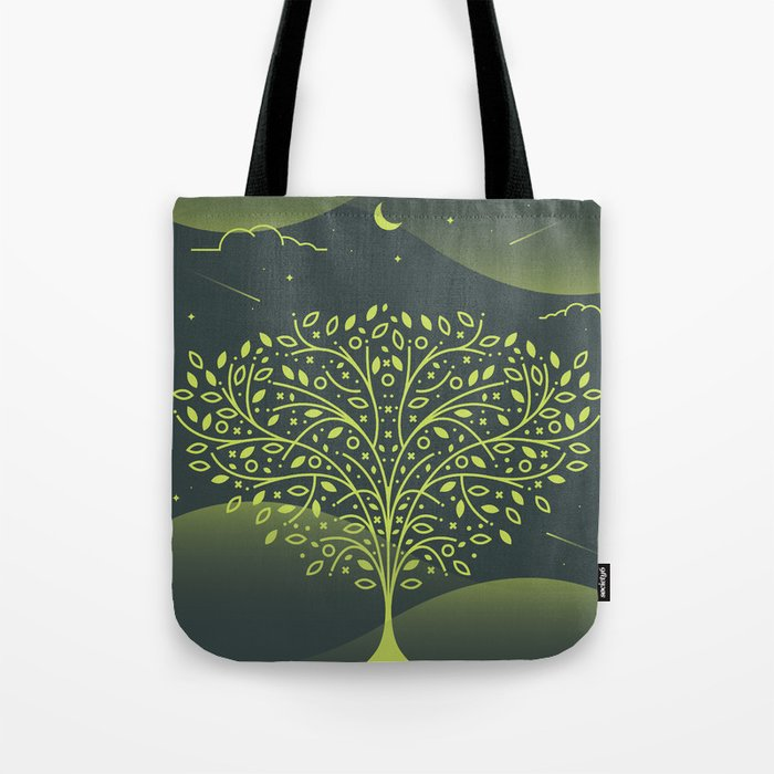Tree Pattern Tote Bag